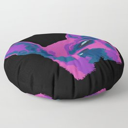 chihuahua - blk Floor Pillow