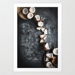 Cracked Coconut Still Life Art Print