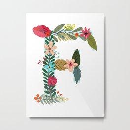 Monogram Letter F Metal Print