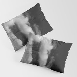 Clouds in black and white Pillow Sham