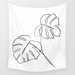 Monstera minimal Wall Tapestry
