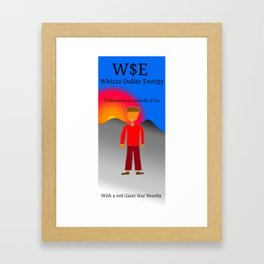 Trillionaire on a world of ice Framed Art Print