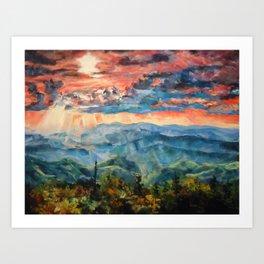 Canadian Sunset Art Print