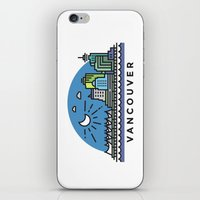 vancouver iPhone & iPod Skins featuring Vancouver by Campbell Graphix