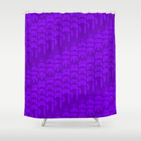 video game Shower Curtains featuring Video Game Controllers - Purple by C.Rhodes Design