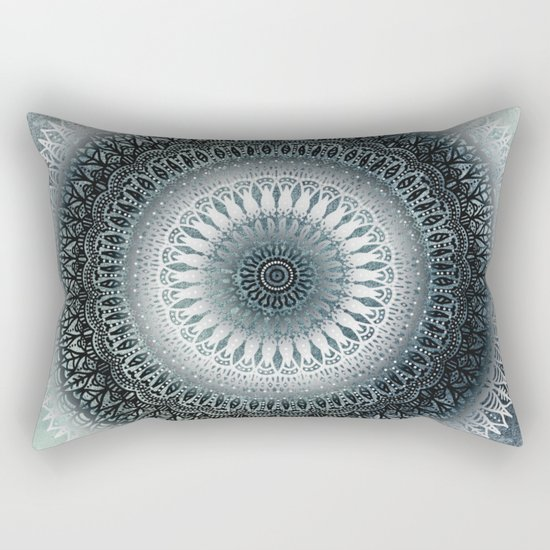 WINTER LEAVES MANDALA Rectangular Pillow