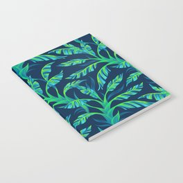Paradise Leaves - Green Notebook