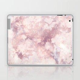 Elegant rose faux gold pink gray luxury marble pattern Laptop & iPad Skin