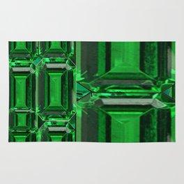 SPRING GREEN EMERALDS ART DECORATIVE  DESIGN Rug
