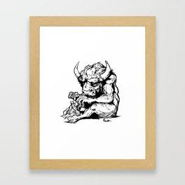 A Minotaur in Repose Framed Art Print