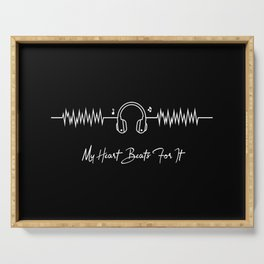 My heart beats for music ECG Serving Tray