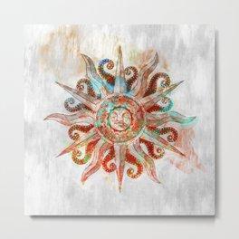 My God is the Sun Metal Print
