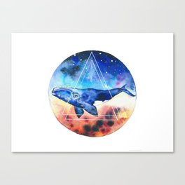 Galactic Whales Canvas Print