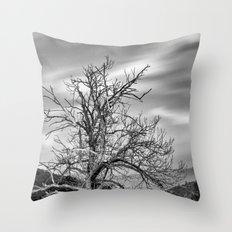 Old Mountain Tree under the stars Throw Pillow