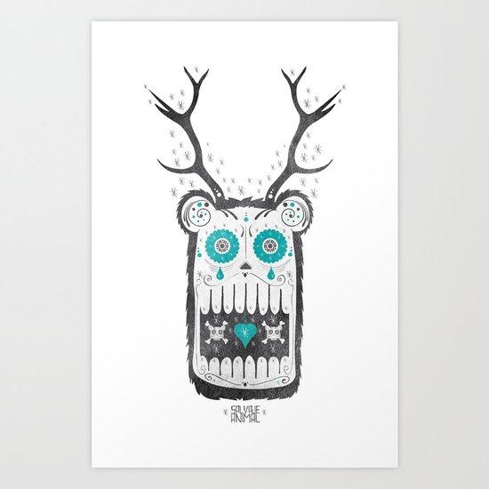 SALVAJEANIMAL MEX cuernitos Art Print