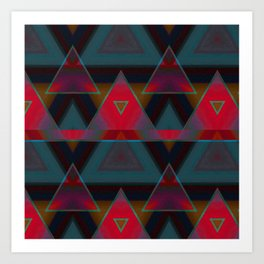 Triangle Abstract Pattern Art Print