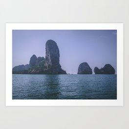 Rock Formations of Krabi Art Print