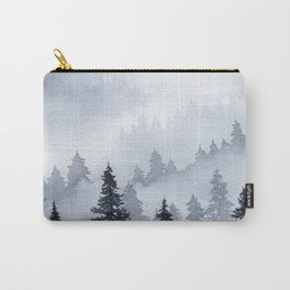 Misty Forest Watercolor Carry-All Pouch