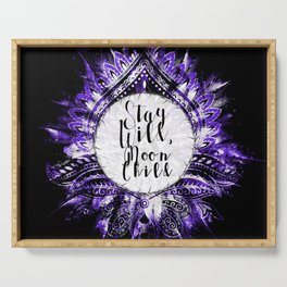 Feather Jewel Stay Wild Gypsy Moon Serving Tray