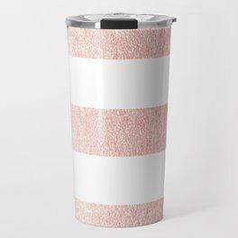 Simply Striped Rose Gold Twilight Travel Mug