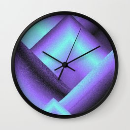 purple and blue mountains Wall Clock