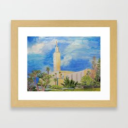 Los Angeles California LDS Temple Framed Art Print