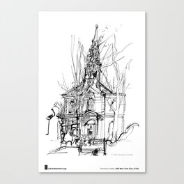 "Veronica Lawlor, ""St. Paul's Chapel"" Canvas Print"