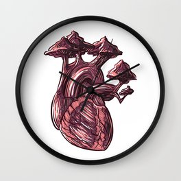 HEART TREE Wall Clock