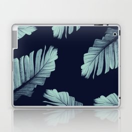 Navy Blue Banana Leaves Dream #2 #tropical #decor #art #society6 Laptop & iPad Skin
