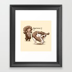 Beethoven!? Framed Art Print