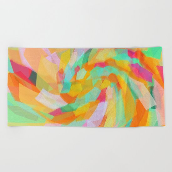 Spring vibes Beach Towel