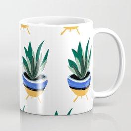 Mid Century Plant on Coral Coffee Mug