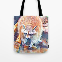 Aquarell Raccoon Tote Bag