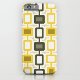 Mid Century Modern Square Columns Yellow Gray iPhone Case