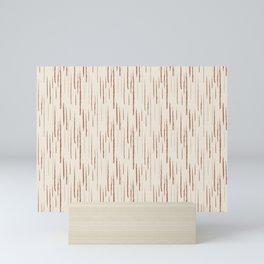 Cavern Clay SW 7701 Grunge Vertical Stripes on Creamy Off White SW7012 Mini Art Print