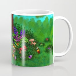 Easter - Spring-awakening - Puppy Capo and Butterfly Coffee Mug