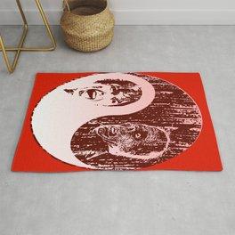 Yin Yang Horror - dark print Rug
