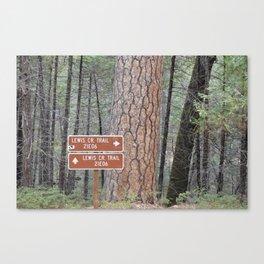 Lewis Creek Hiking Trail - CA Canvas Print