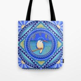 Australian Kingfisher Mandala Tote Bag