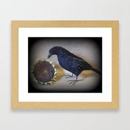 Corvid the Crow Framed Art Print