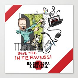Save the Interwebs - STOP SOPA Canvas Print