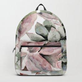 Circular Succulent Watercolor Backpack