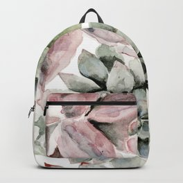 Circular Succulent Watercolor Backpack