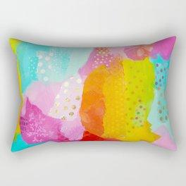 Summer Fun Mixed Media Collage Rectangular Pillow