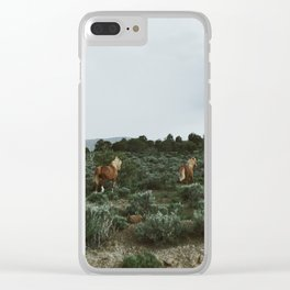 Nevada Horses Clear iPhone Case