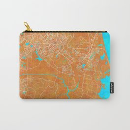 Virginia Beach, VA, USA, Gold, Blue, City, Map Carry-All Pouch