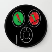 rave Wall Clocks featuring RAVE MASK by shannon's art space