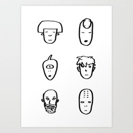 Faces / Caras Art Print
