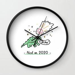 Next on 2020 - Dinosaur Extinction Wall Clock