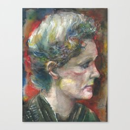 MARIE CURIE - watercolor portrait.3 Canvas Print